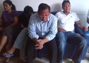 Anakpawis Rep. Fernando Hicap inside Tarlac police headquarters, September 2013.
