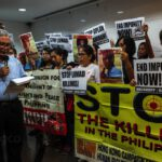 HKCAHRPP and BAYAN Hong Kong & Macau lead a picket at the Philippine Consulate General in Hong Kong